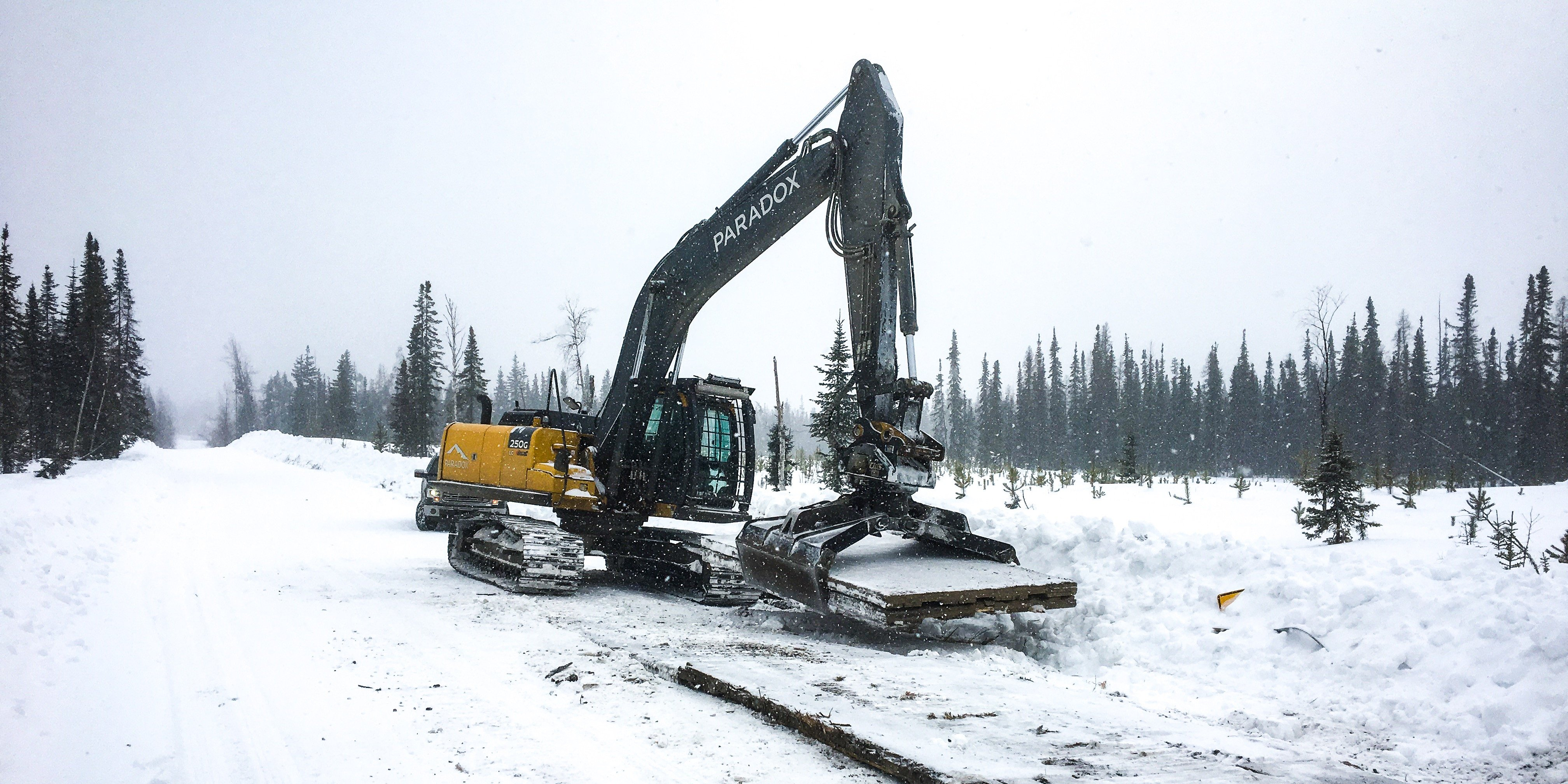 Access mats can be used to prepare work sites for winter.